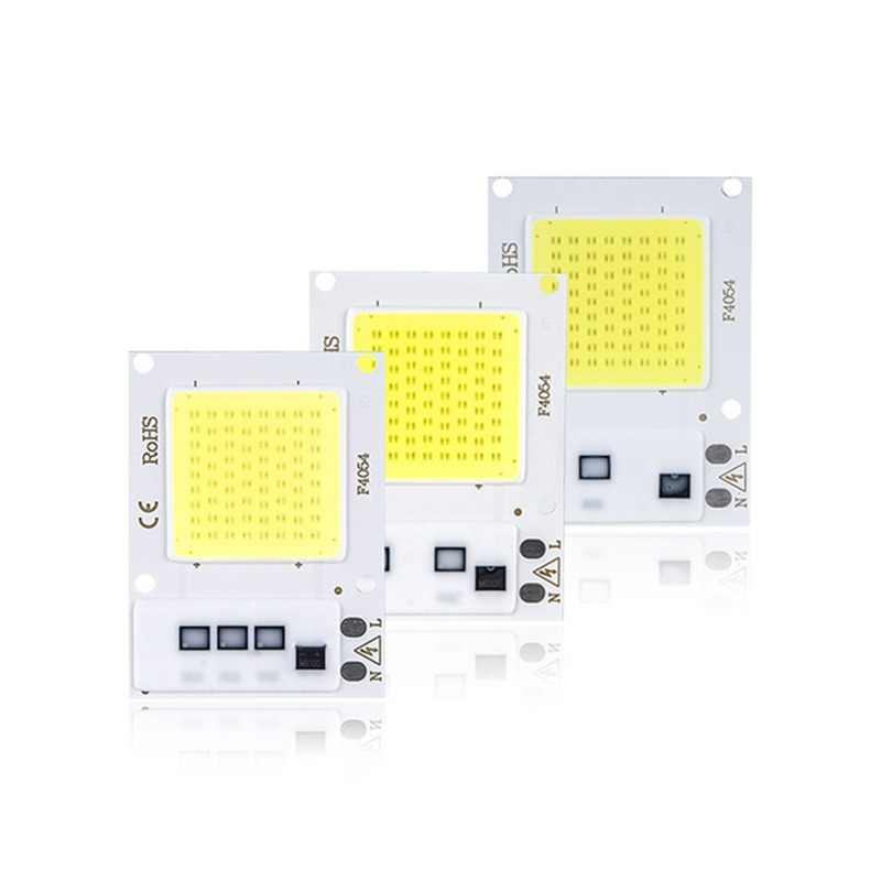 SMD COB Light Beads Spotlight AC 110V 220V DOB Chip 10W 20W 30W LED Bulb Smart IC No Need Driver DIY LED Spotlight Floodlight