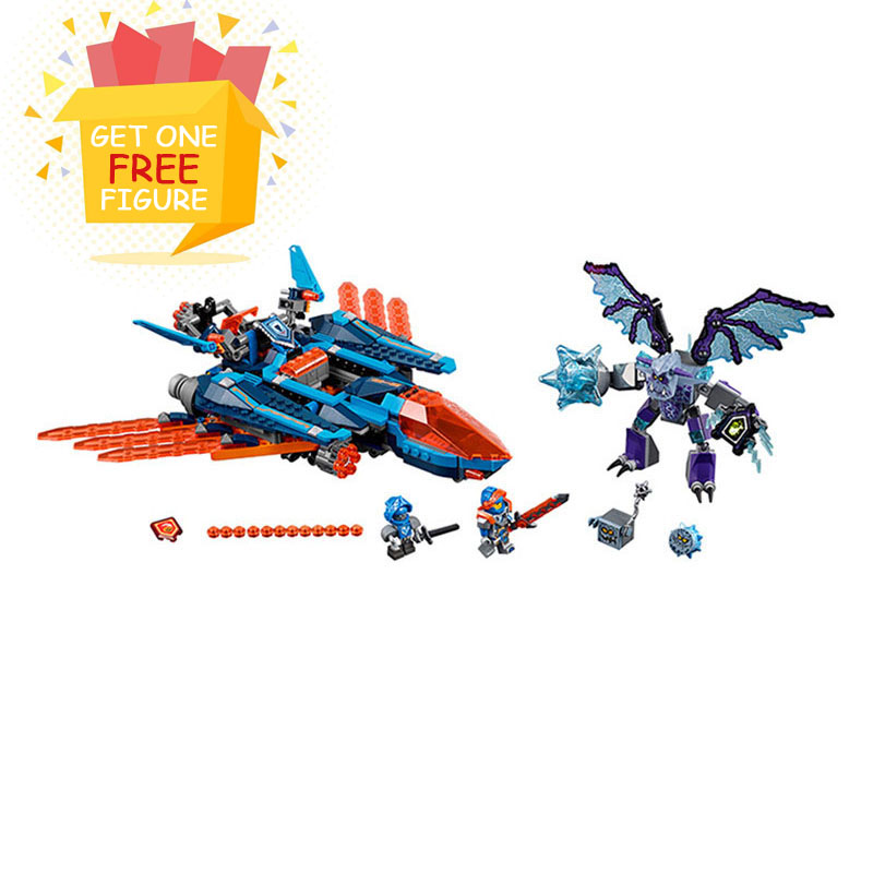 Bela Pogo Compatible Legoe 70351 10596 Nexus Knights Clay Falcon Fighter Blaster Models Building Blocks Bricks toys for children lepin 14004 knights beast master chaos chariot building bricks blocks set kids toys compatible 70314 nexus knights 334pcs set