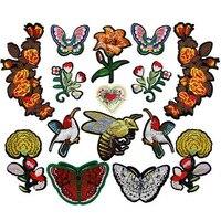 Утюг на вышитые Нашивки для одежды мультфильм значок одежды аппликации мотив Вышивка цветок Нашивки Вышивание DIY аксессуары