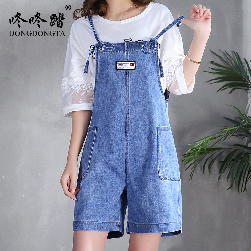 3430c41961 Detail Feedback Questions about Summer Playsuits Denim Jumpsuits Women 2018  Rompers Overalls Casual Loose Plus Size Shorts Elegant Short Jeans Wide Leg  on ...