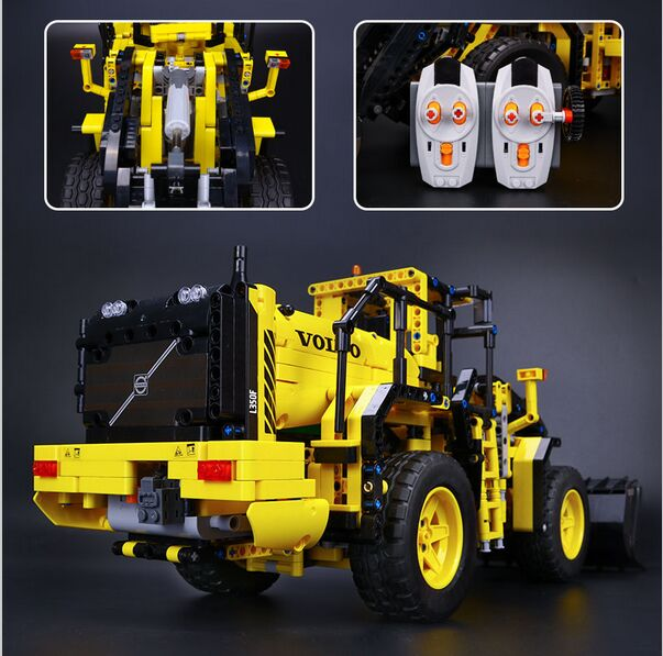 LEPIN 20006 technic series Volvo L350F wheel loader Model Building Kit Blocks Bricks Compatible with Toy 42030 a localisation and navigation system for an autonomous wheel loader