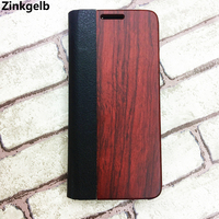 For Samsung Galaxy S8 Plus Case Cover Luxury PU Leather Hard Wooden Flip Case For Samsung