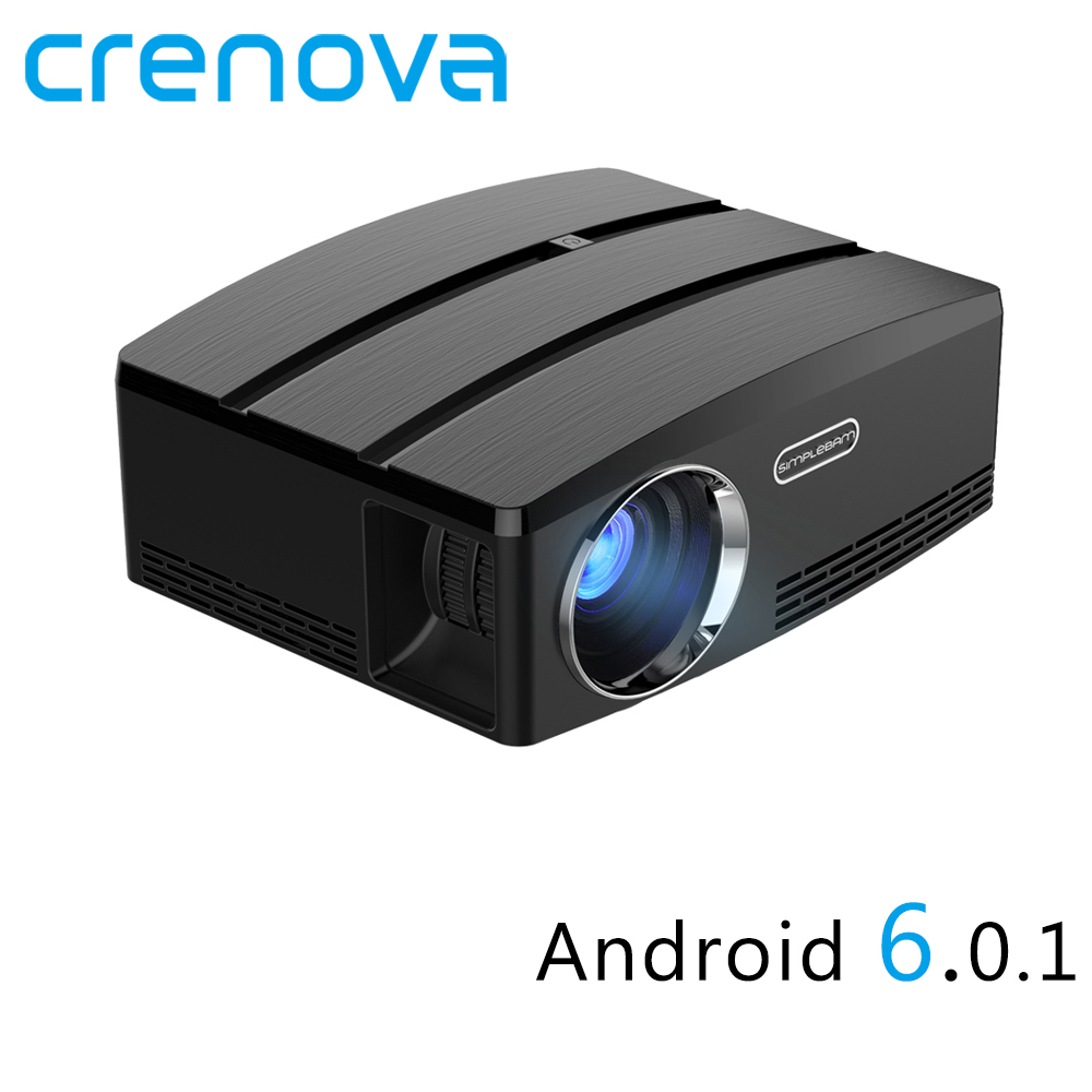 Crenova GP80 GP80UP Full HD 1080P Led Mini Projector Android 6.01 For Mobile Phone USB HDMI 3D Portable Video Home Projectors