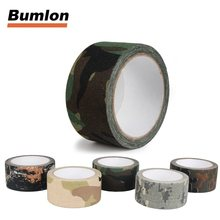 10m Bionic Adhesive Cotton Cloth Tape Outdoor Tactical Hiking Camping Hunting Waterproof Camo Tape HT9-0002(China)