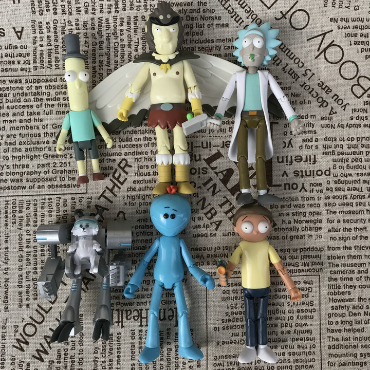 Imperfect Original Funko 5'' Action Figure Rick and Morty Mr. Poopybutthole Doll Vinyl Action Figure Collectible Model Toy Hot new hot christmas gift 21inch 52cm bearbrick be rbrick fashion toy pvc action figure collectible model toy decoration