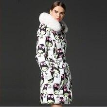 2015 новый! Зимняя куртка женщин тонкий длинный пуховик супер-большой воротник холодной утолщение водонепроницаемый ветрозащитный Большой размер одежды