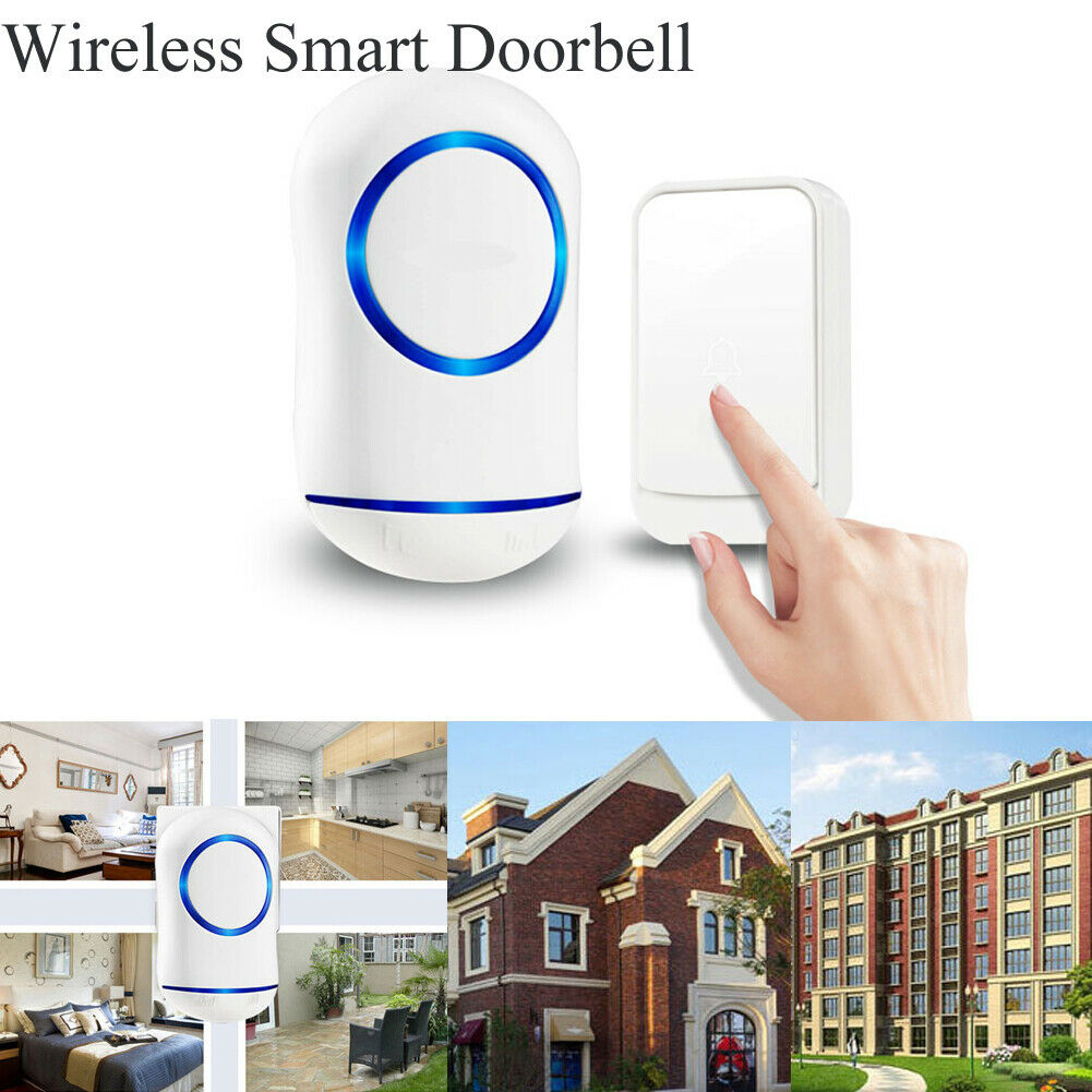 Smart LED Wireless Doorbell Home Ring 45 Different Chimes For Front Back Door