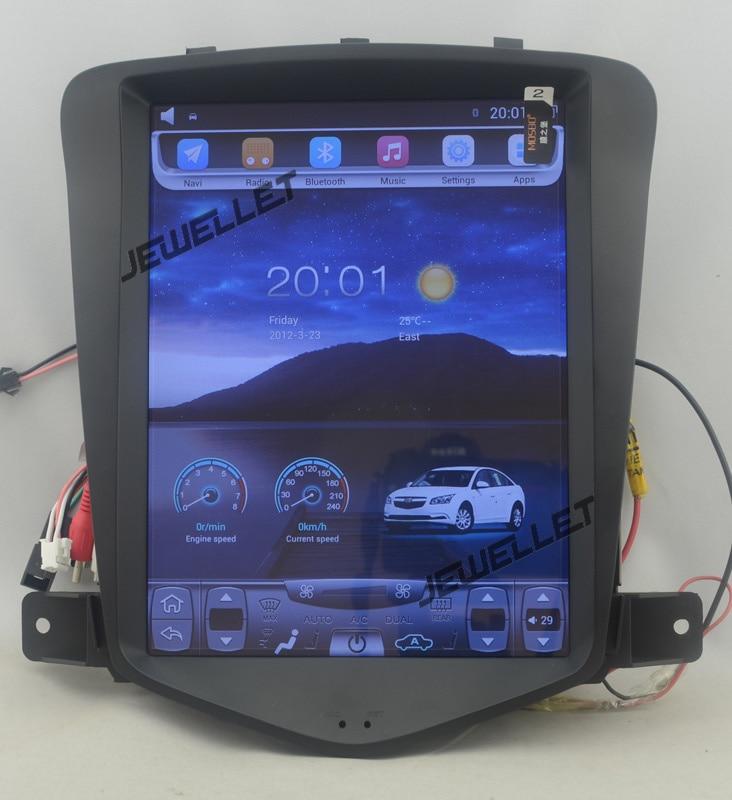 10.4 tesla style vertical écran android 4.4 Voiture GPS radio Navigation pour Chevrolet Cruze, Daewoo Lacetti, holden 2008-2016