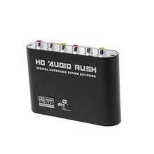 Digital DTS AC3 Optical To Analog 5.1 Surround Audio Sound Decoder Coaxial To 6RCA Sound Audio Adapter Amplifier Converter