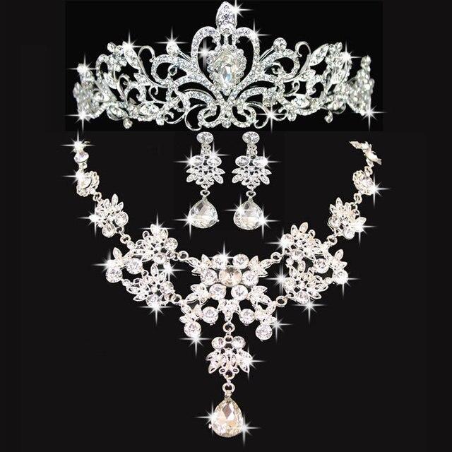 Бесплатная доставка свадебный комплект ювелирных изделий кристалл ожерелье серьги наборы для новобрачных ювелирные наборы оптовая