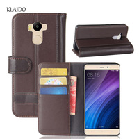 KLAIDO Genuine Leather Mobile Phone Case For Xiaomi Redmi 4 Prime Case Redmi 4 Prime Cover