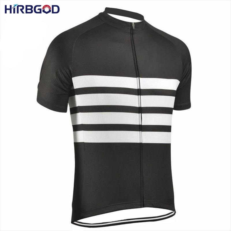 HIRBGOD 2017 Άνδρες μαύρο άσπρο λωρίδα - Ποδηλασία - Φωτογραφία 2