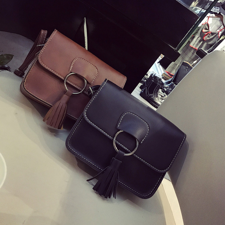 ФОТО In the spring of 2017 new handbag Korean fashion tassel ring Single Shoulder Bag Messenger Bag personality female small package