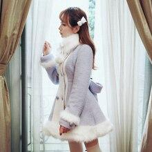 Милое пальто принцессы в стиле Лолиты; Bobon21; двубортное шерстяное пальто со съемными петлями; зимнее теплое длинное пальто; C1302