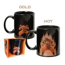 Freies verschiffen Dragon Ball Z Becher Goku Becher Heiße Farbe ändern tassen wärme reaktiven tassen super saiyan tassen milch kaffee magische tasse