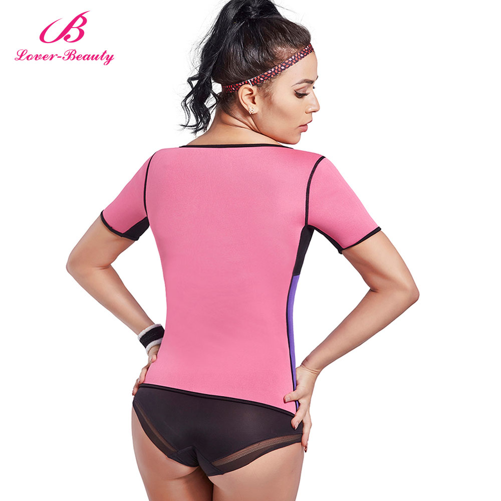 ab48bf5045 Lover Beauty Neoprene Slimming Hot Vest With Sleeves Exercise Top Sauna  Sweat For Weight Loss Body Shaper Tummy Fat Burner A-in Tops from Underwear  ...