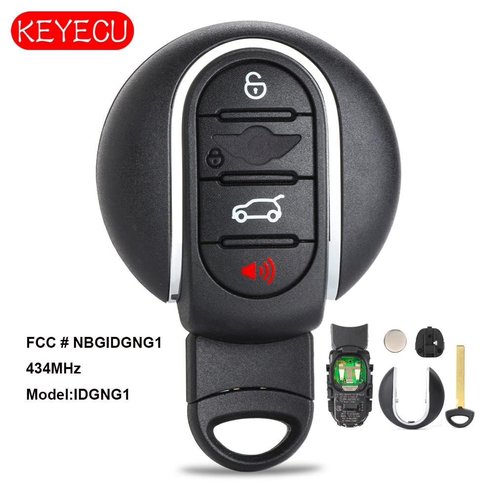 Keyecu OEM Smart Remote Key Fob 4 Button 315MHz 434MHz for BMW Mini Copper 2015 2018