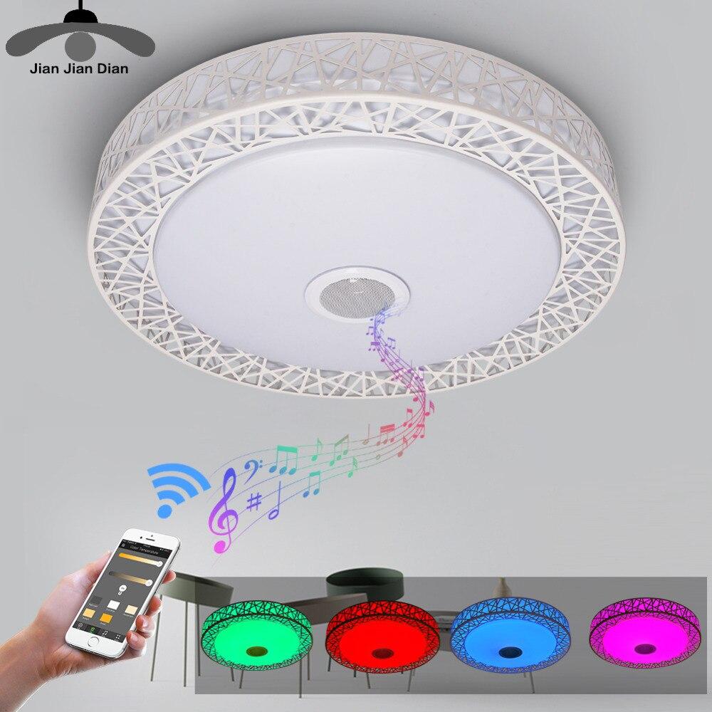 JJD LED Phone Remote Control Bluetooth Speaker Ceiling Lamp Music Party Lamps Led RGB Colorful 36W 40/50 CM Music Ceiling Lights jakcom blm colorful led music desk lamp bluetooth speaker touch switch app control