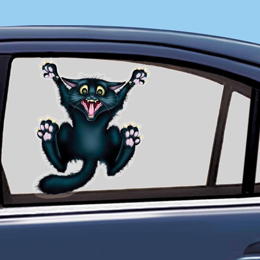 Aliauto Car Styling Funny Car Sticker And Decal Crazy Cat Window Pegatinas Accessories For Volkswagen Mercedes Golf Skoda Toyota Car Sticker Car Stickers And Decalsfunny Car Stickers Aliexpress