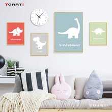 Cartoon Dinosaur Canvas Painting Poster Print nursery Wall Art Pictures For Kids child Room Decoration Bedroom Home wall Decor(China)