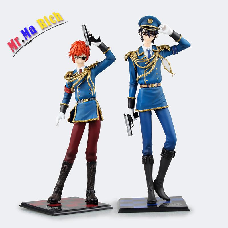 Free Shipping Anime K Missing Kings Yata Misaki & Fushimi Saruhiko 24cm Boxed Action Figure Toys