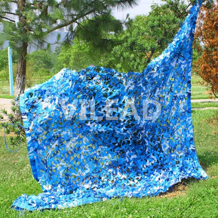 VILEAD 5 M   5 M Filet Camo Filet Bleu Camouflage Filet Abri Du Soleil  Servi Comme Décor Et Couvert Lieu partie Soirée à Thème Camping 7c3c6e823ecf