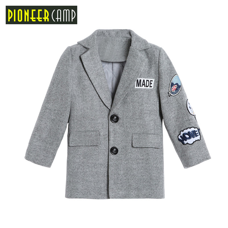Pioneer Camp Kids Boys W Trench Coat 4 14Y Children Double Breasted Long Sleeve Outwear Kids