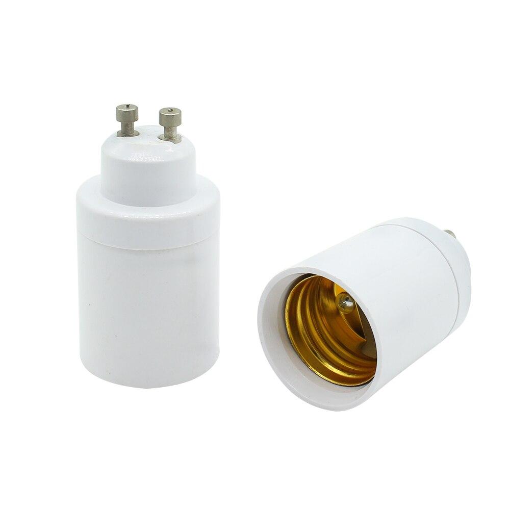 1Pcs GU10 to E27 Base LED Light Lampbase Bulbs Adapter Adaptor Socket Converter Plug Extender