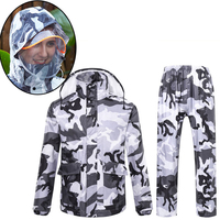 DINIWELL Camouflage Raincoat Suit Women Raincoat Thickened Waterproof Rain Coat Women Camping Waterproof Rainwear