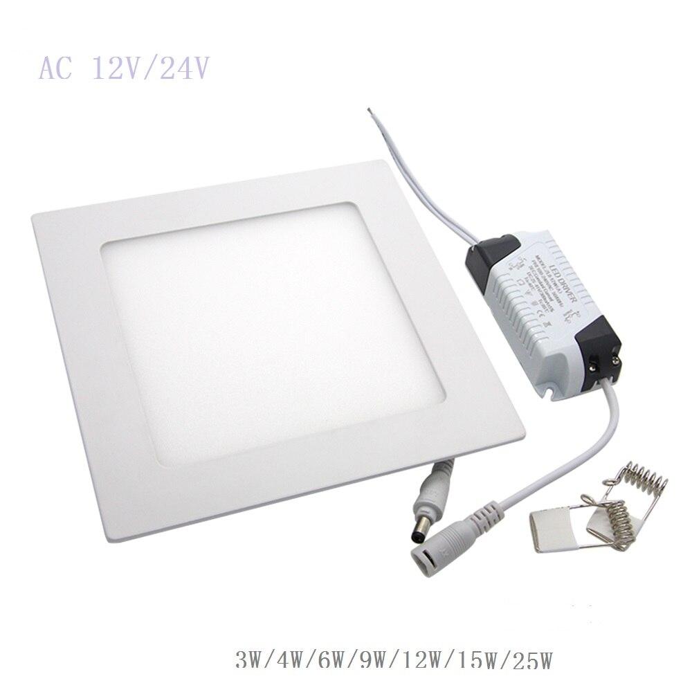 AC 12 В/24 В 3 Вт-25 Вт квадратный светодиодный потолочный светильник Встраиваемый Кухня Ванная комната светильник светодиодный свет вниз теплы...