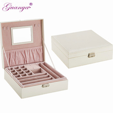 Guanya brand earings ring necklace holder Packaging case jewelry display Organizer women Birthday Graduation Gift box