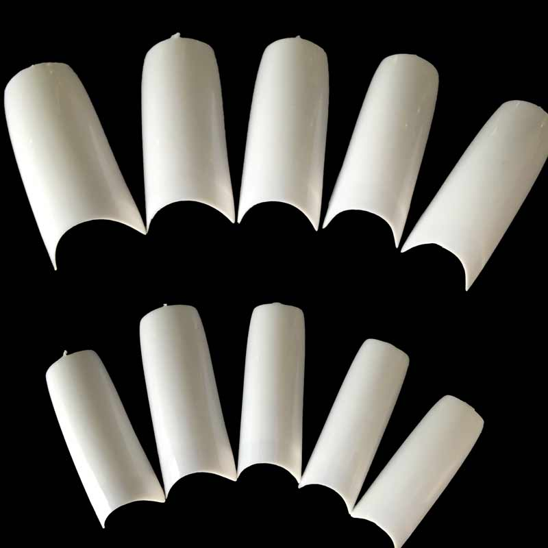 100PCS Fake Nails Tips French Acrylic Artificial False Nails French ...