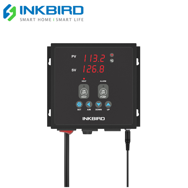 Inkbird Plug-N-Play PID Temperature Controller Thermostat IPB-16S Pre-wired Digital Home Brewing Controller With 2 Plugs