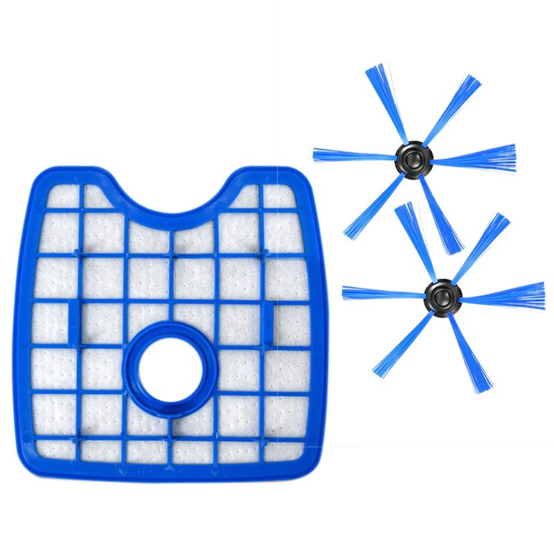 цена на 3pcs/set Parts 1 filter screen+2 round brush for Philips Robot Vacuum Cleaner FC8820 FC8810 FC8066 Sweeping robot accessories