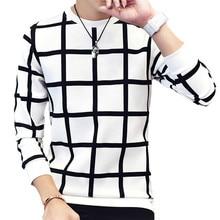 Fashion Hoodies Sweatshirts Geometric Plaid Harajuku Hoodie Men O Neck Casual off white Sweatshirt Hip Hop Streetwear 5XL