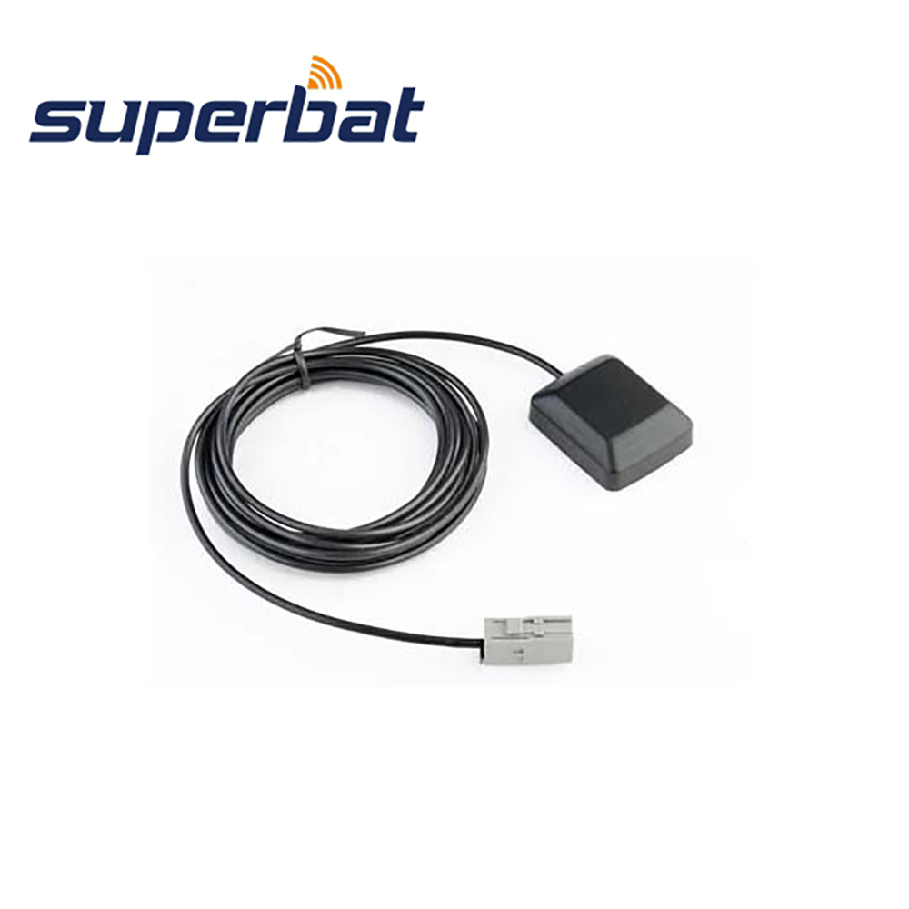 Image 2 - Superbat Car RV GPS Navigation Antenna for Mercedes Command Alpine GT5 1S HRS GT5 1S Plug 1575.42MHz Aerial Siganal Booster 3M-in Communications Antennas from Cellphones & Telecommunications