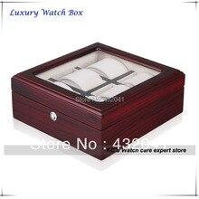 Reloj de lujo Collectioin caja 6 ébano de madera del reloj de regalo para sus amigos navidad – 06 Slots GC02-TZ-06W