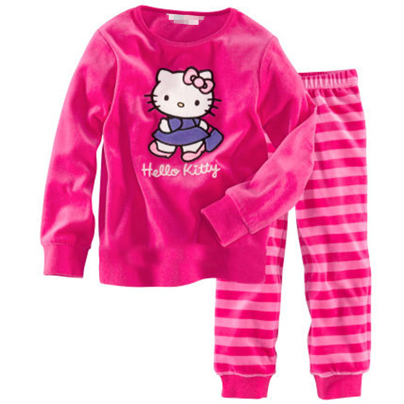 Children Autumn Pajamas Clothing Set Boys & Girls Cartoon Sleepwear Suit Set Kids Long-sleeved+pant 2-piece Baby Clothes ZQX107