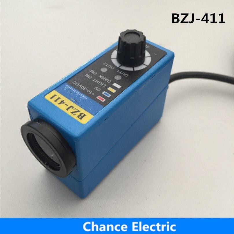 Capteurs de marque de couleur BZJ-411 Machine à emballer capteur infrarouge commutateur optique