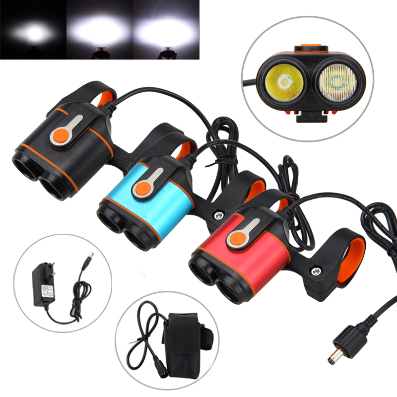 10000LM 2x XM-L2 LED Rechargeable 16000mAh Battery 4 Mode Headlamp Bike Lamp Headlight Cycle Waterproof Bicycle light Head Torch hot waterproof t6 led headlight headlamp for camping hiking rechargeable head lamp light zoomable 4 mode adjust focus light