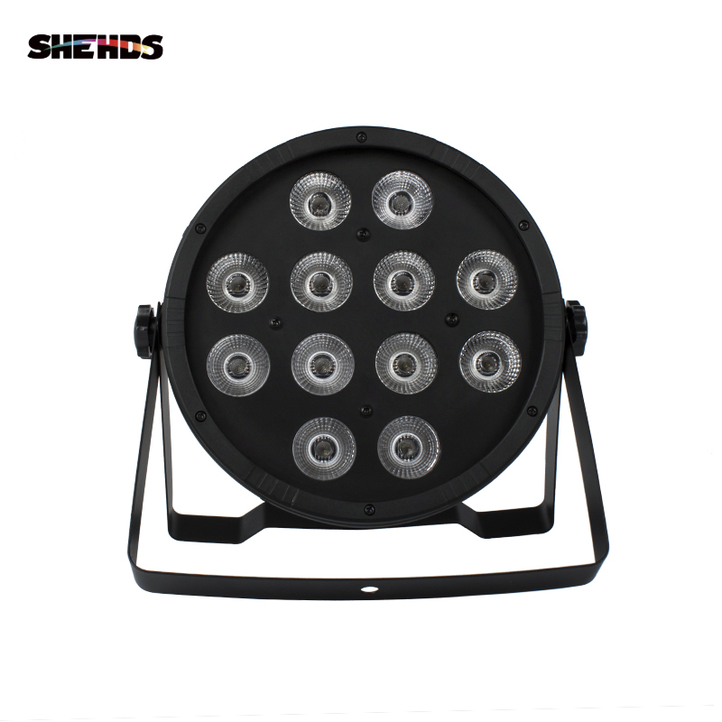 Fast Shipping <font><b>LED</b></font> Flat <font><b>Par</b></font> <font><b>12x12W</b></font> RGBW 4IN1 RGBW <font><b>LED</b></font> Light DMX512 Stage Effect Music Club DJ Light DMX <font><b>Led</b></font> <font><b>Par</b></font> Party Lights image