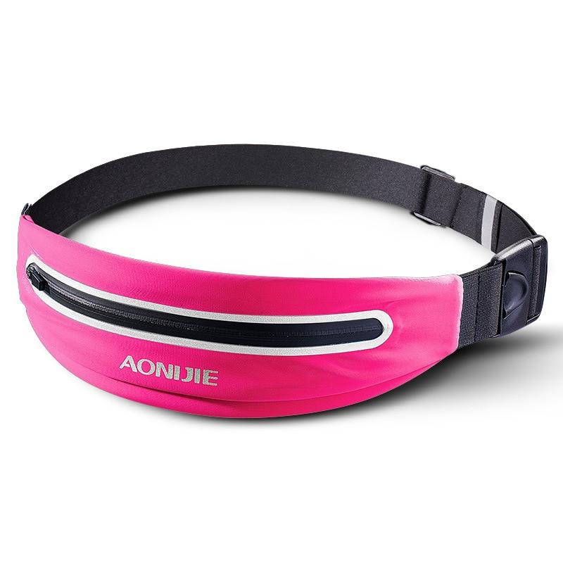 AONIJIE Outdoor Running Waist Bag Waterproof Mobile Phone Holder Jogging Belt Belly Bag Women Fitness Bag Sport Accessories