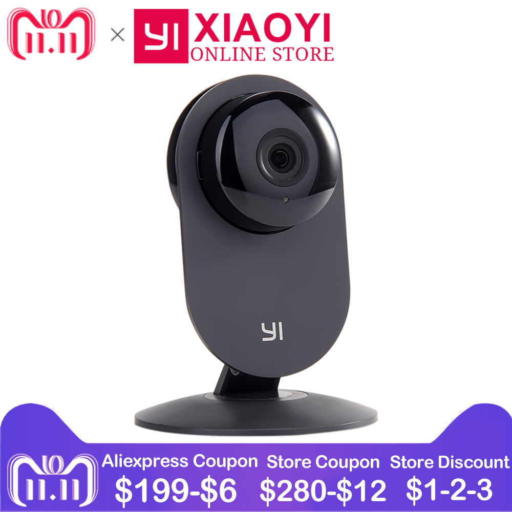 [International Edition] YI Home Camera 720P Xiaomi Xiaoyi IP Camera 110 Wide Angle Two-way Audio Activity Alert Smart Webcam kerui 1080p cloud storage wifi ip camera surveillance camera 2 way audio activity alert smart webcam