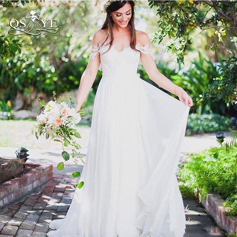 QSYYE 2018 Cheap Wedding Dresses Elegant Off Shoulder