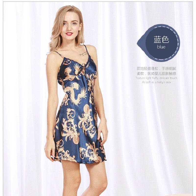 Ladies Sexy Nightgown Sleeveless Nightdress Lace Sleepwear Satin Night Dress Nighties Nightwear For Women