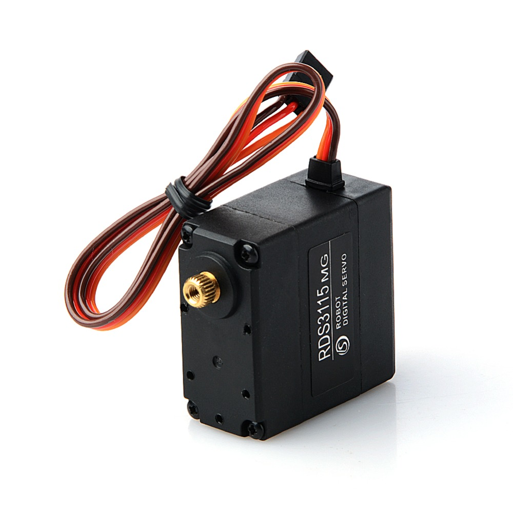 15MG 17KG Digital Metal Gear Servo Dual Shaft 180 270 degree Angle for RC Robot hdkj d3009 9kg digital metal gear torque servo 300 degree wide angle waterproof servo for diy robot smart car truck