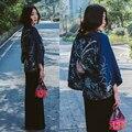 Novelty summer Japanese kimono Phoenix Printed bat sleeve loose ladies cardigan blouse sun protection clothing women outerwear