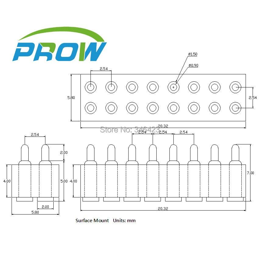 [PR] pogo pin connector 16PIN thimble connector (double