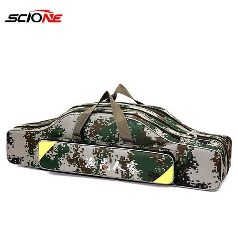 mao ombro saco de pesca portatil vara de pesca saco 2 3 camada 80 90
