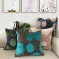 Наволочка для подушки с рисунком фейерверков  синель  флокирование  наволочка для подушки  синий  зеленый  розовый  декоративная наволочка д...